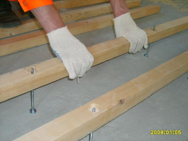 Tehnologija lesenega poda v telovadnici